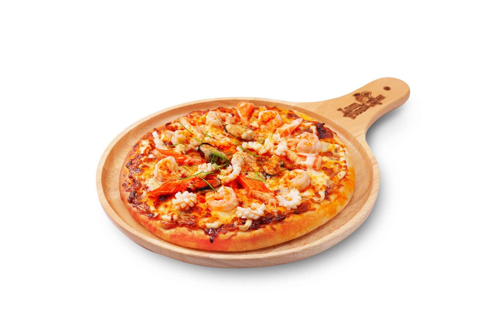 พิซซ่าหน้าต้มยำซีฟู้ด (Pizza Tomyum Seafood)