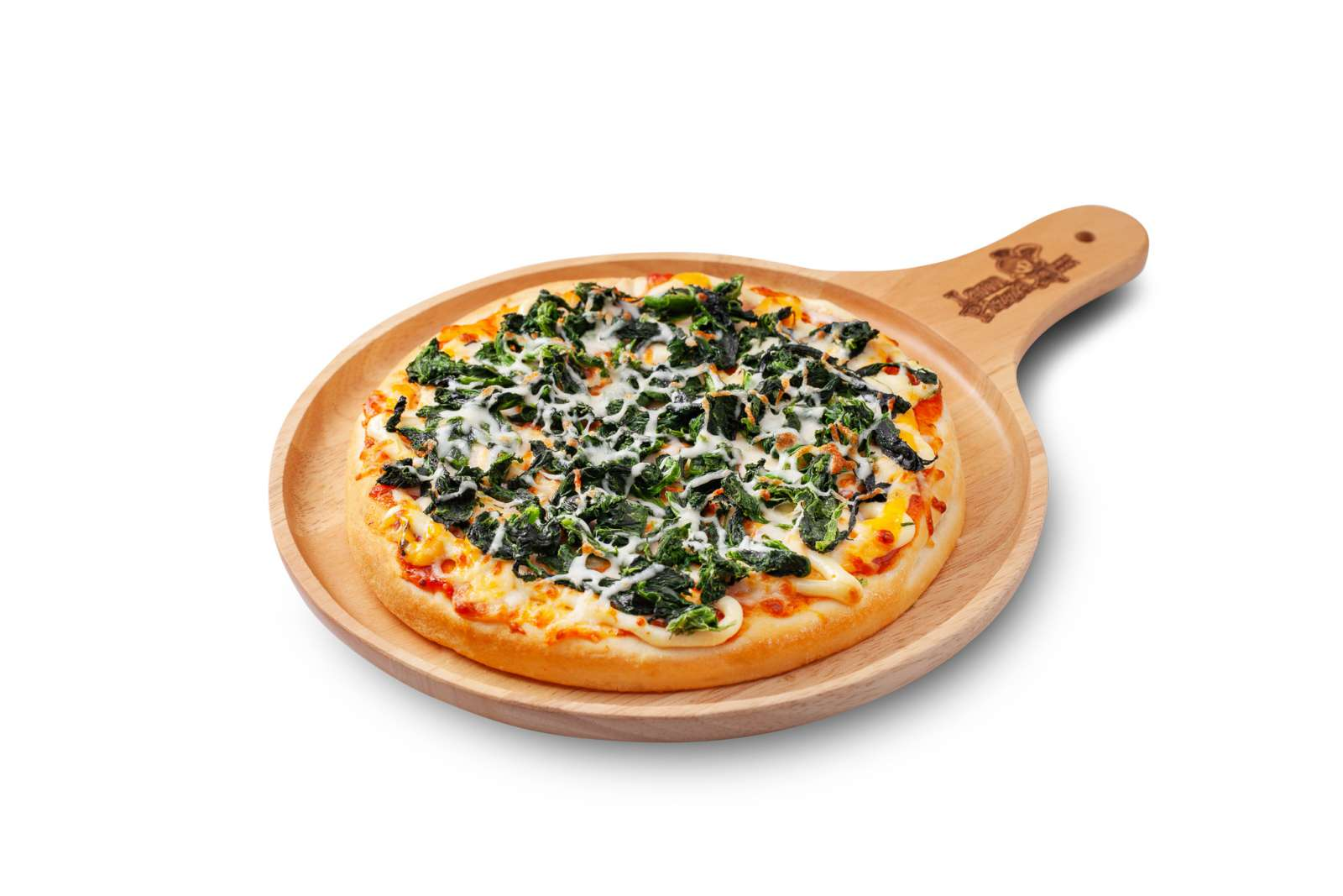 พิซซ่าหน้าผักโขม (Pizza Spinach Cheese)